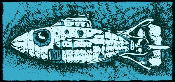 Steampunk Trout Submarine